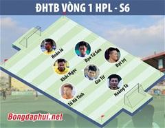 ĐHTB vòng 1 HPL-S6: Văn Minh áp đảo, Tuấn Sơn góp 2 cầu thủ