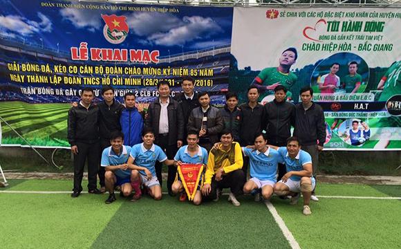 Khai mạc giải bóng đá huyện Hiệp Hòa, Bắc Giang