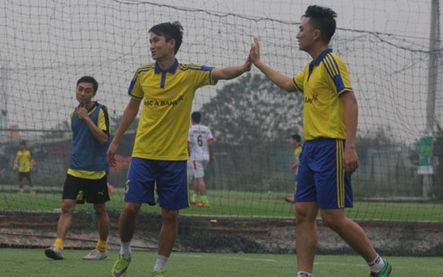 """Tùng """"Milan"""" lập hat trick, NH Bắc Á khởi đầu suôn sẻ tại giải Bank League Open 2016"""