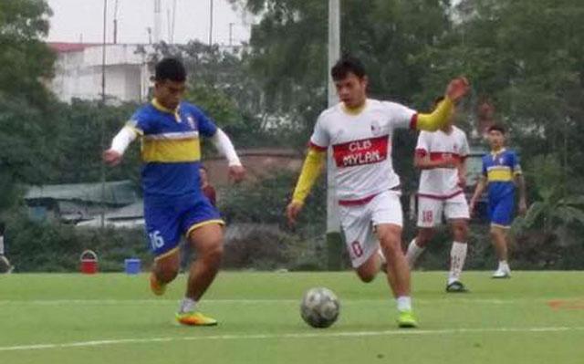 FC Cường Quốc thắng FC Mylan 5-1 trong trận cầu từ thiện