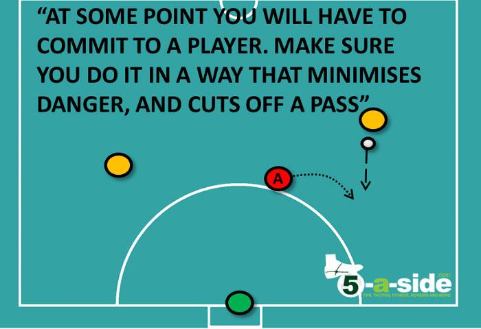 Ép đối phương vào góc khó xử lý bóng