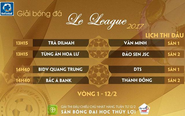 Link tường thuật trực tiếp vòng 1 Le League 2017