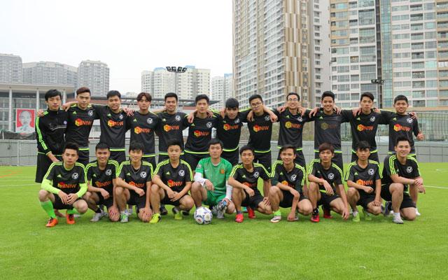 Đội bóng trường ĐH KHXH&NV quyết tâm tạo bất ngờ tại VUG 2017
