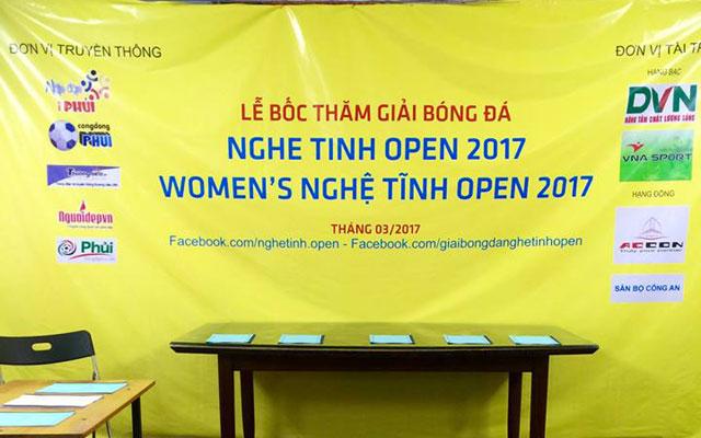 Bốc thăm chia bảng giải bóng đá Nghệ Tĩnh Open 2017 khu vực Hà Nội