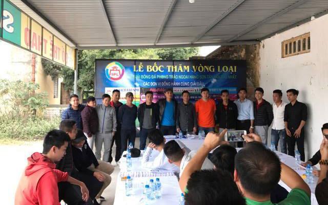 Bốc thăm lịch thi đấu giải Ngoại hạng Sơn Tây lần thứ nhất 2017