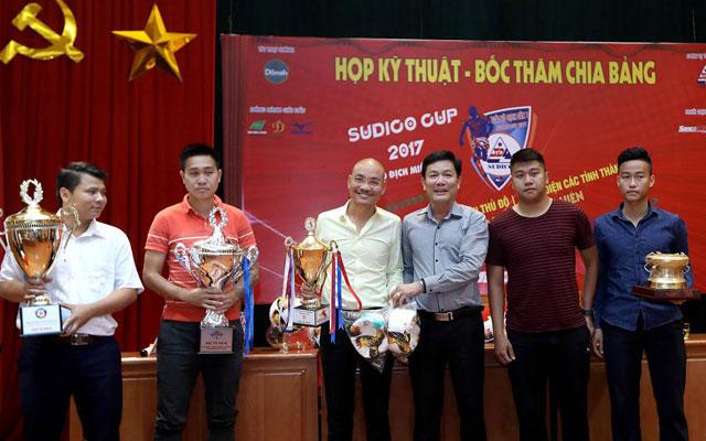 Bốc thăm chia bảng Sudico Cup 2017 - Vô địch sân 7 miền Bắc
