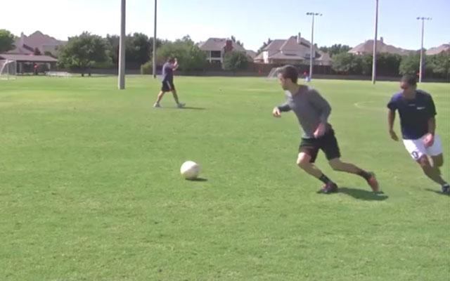 Kỹ thuật bóng đá: Vê bóng, đột ngột chuyển hướng
