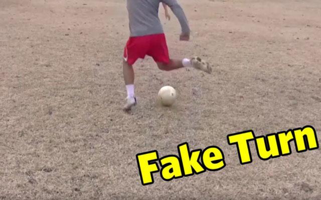 Kỹ năng đá bóng: Động tác giả chuyển hướng