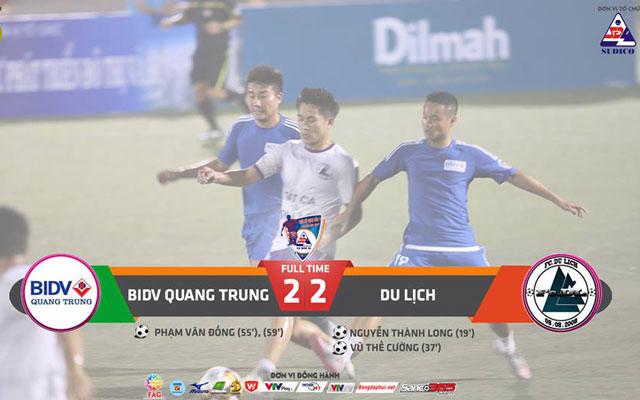 Highlight BIDV Quang Trung 2-2 Du Lịch (vòng 2 Sudico Cup 2017)