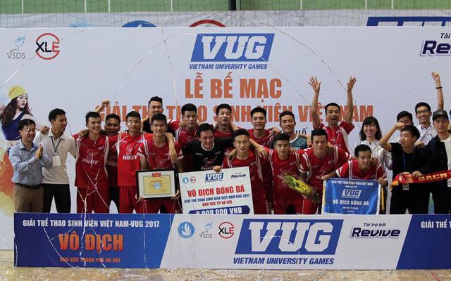 ĐH Bách Khoa vỡ òa cảm xúc với chức vô địch futsal VUG 2017 - Hà Nội