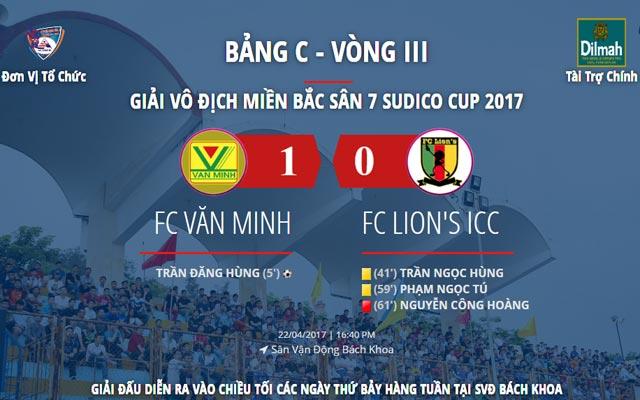 """Highlight Văn Minh 1-0 Lion""""s ICC (vòng 3 Sudico Cup 2017)"""