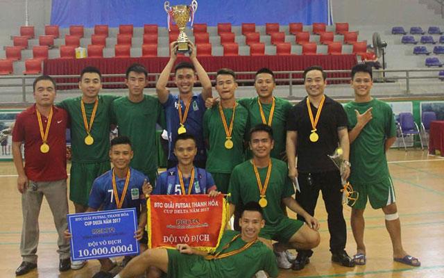 FC Lucky Thanh Hà đăng quang tại giải futsal tỉnh Thanh Hóa - Cúp Delta 2017