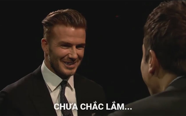 David Beckham số nhọ trong màn thi đập trứng
