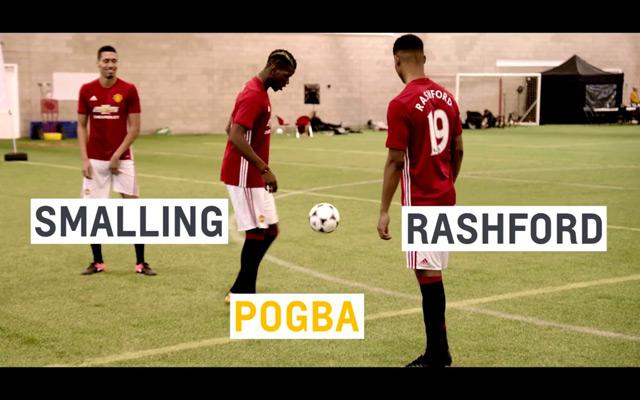 Màn thách đấu thú vị giữa các cầu thủ M.U