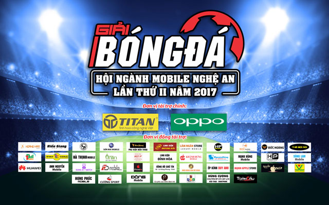 10 đội bóng tham gia Giải bóng đá Hội ngành Mobile Nghệ An 2017