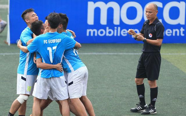 Bán kết giải Moca - cúp Báo Bóng đá: Ecofoot và Lucky Thanh Hà vào chung kết
