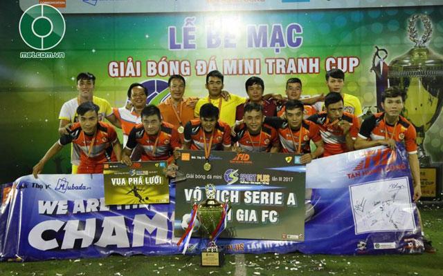 """Đòi """"món nợ"""" với Lê Bảo Minh, Đinh Gia vô địch Serie A Sport Plus Cup 2017"""