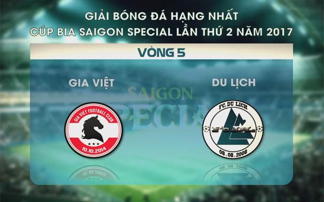 Highlight Gia Việt 5-3 Du Lịch (vòng 5 SL1-S2)