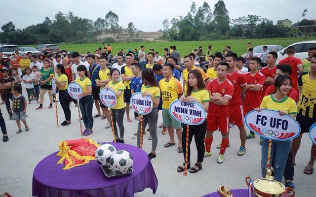 Ra mắt giải bóng đá U23 Yên Thành 2017