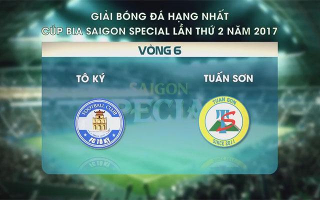 Highlight Tô Ký 3-3 Tuấn Sơn (vòng 6 SL1-S2)