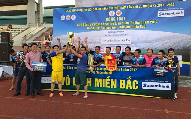 Đội bóng Doanh nhân trẻ Hà Nội vô địch Giải Bóng đá Doanh nhân trẻ toàn quốc lần thứ I – Khu vực miền Bắc