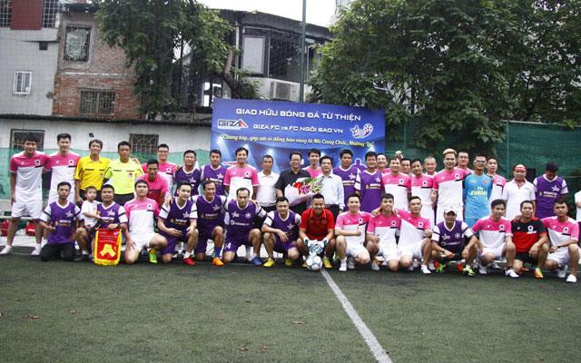 FC Ngôi Sao và FC Giza quyên góp được hơn 160 triệu ủng hộ đồng bào Mù Cang Chải, Mường La