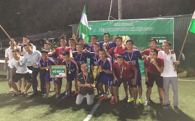 U23 Lucky Thanh Hà vô địch giải U23 phong trào Hà Nội 2017