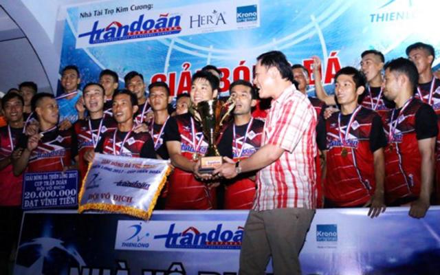 Hưng Dũng FC đăng quang giải bóng đá Thiên Long 2017