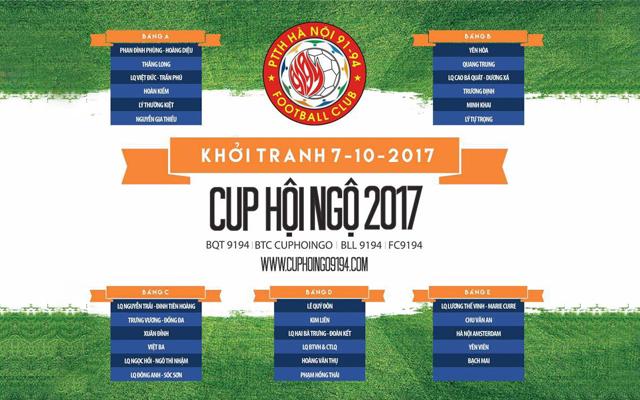 Dự đoán loạt trận đầu tiên vòng bảng Cúp Hội Ngộ 2017