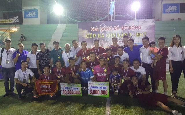 Dilmah Danang vô địch Giải Bóng Đá Mở Rộng Cúp Hà Sơn Lần I Năm 2017