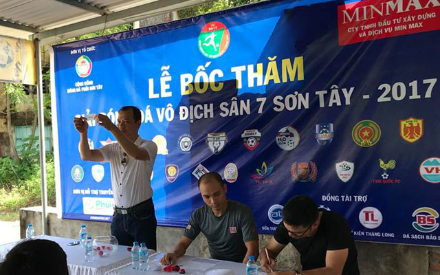 Bốc thăm giải vô địch sân 7 Sơn Tây lần thứ nhất