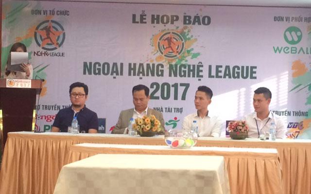 Ngoại hạng Nghệ League 2017: Đổi tên, tăng thêm hấp dẫn