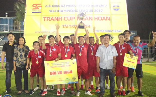 Bảo hiểm Xuân Thành Đồng Tháp vô địch Sài Gòn Champions League 2017