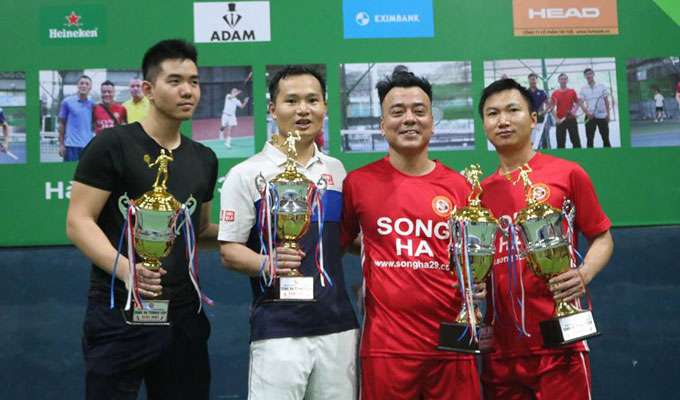 Nhiều danh thủ bóng đá dự giải Tennis Song Hà 2018