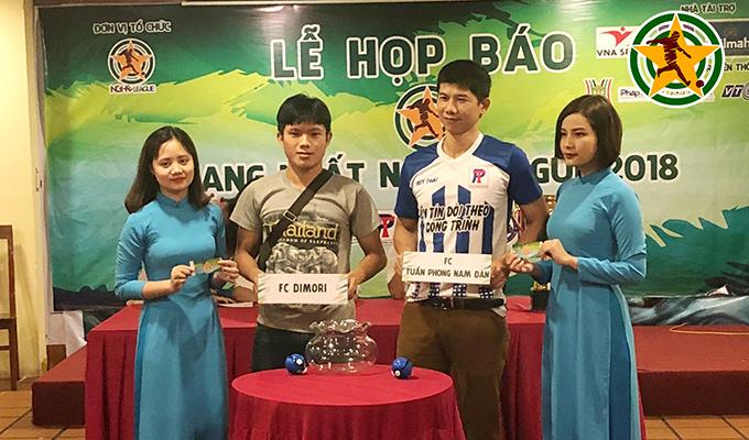 Bốc thăm công bố giải hạng Nhất Nghệ League 2018