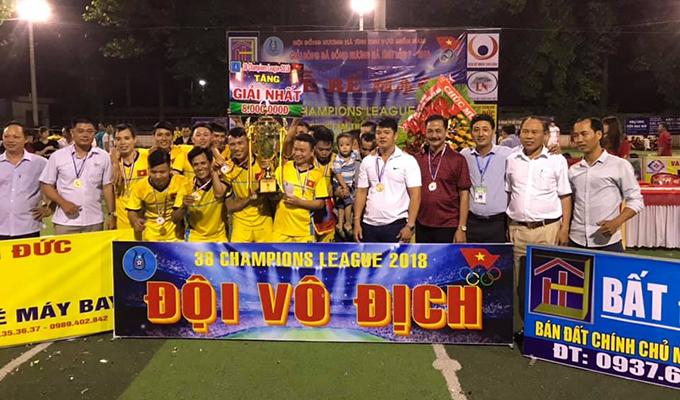 Vũ Chương lập hattrick, Cẩm Quan đá bại Sơn Quang lên ngôi vua 38 Champions League