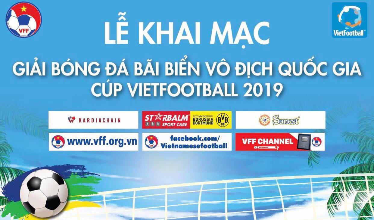 Vietfootball mang làn gió mới tới giải bóng đá bãi biển VĐQG 2019