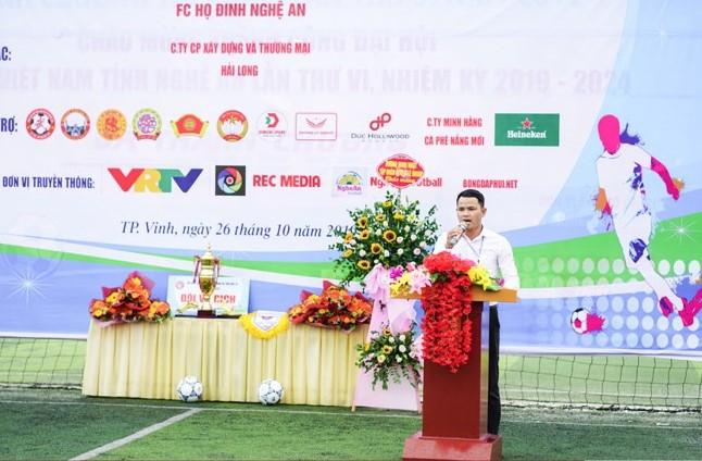 Trưởng BTC Dòng họ NA: Có tình yêu bóng đá, có trách nhiệm đối với dòng tộc họ Đinh