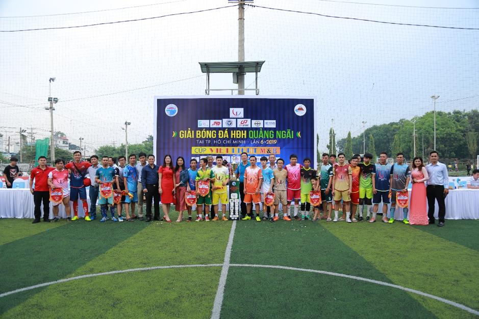 Khai mạc Giải bóng đá HĐH Quảng Ngãi lần thứ VI năm 2019 tranh cúp VIETLIGHT M&E
