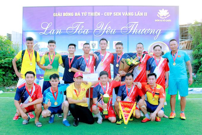 Giải bóng đá thiện nguyện cup Sen Vàng quyên góp được số tiền lên đến 31 triệu đồng
