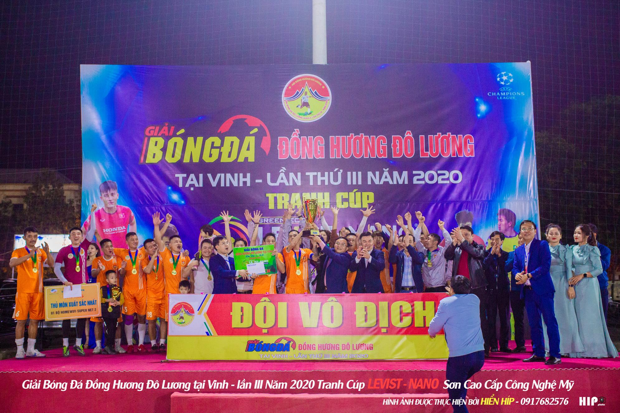 Kết thúc ĐH Đô Lương - Cup Levits Nano 2020: Khẳng định sân chơi đồng hương số 1 xứ Nghệ